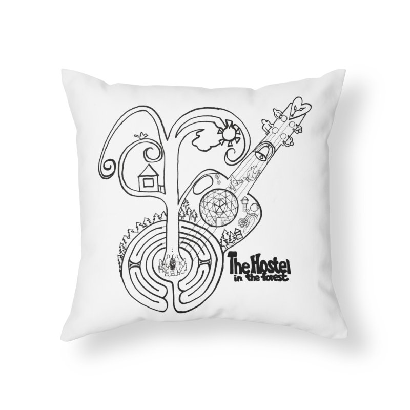 Hostel Peace by Darlene Cook Home Throw Pillow by Hostel in the Forest