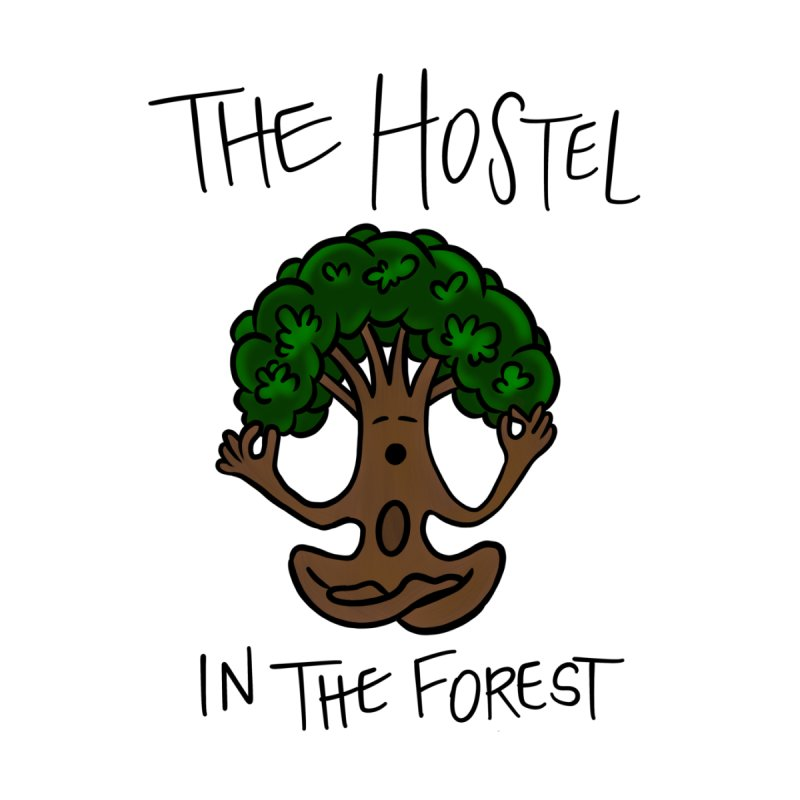 Hostel Yoga Tree by LeAnn Sauls Kids T-Shirt by Hostel in the Forest