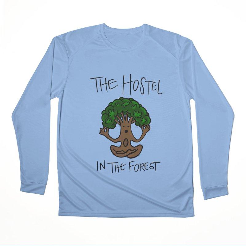 Hostel Yoga Tree by LeAnn Sauls Men's Longsleeve T-Shirt by Hostel in the Forest