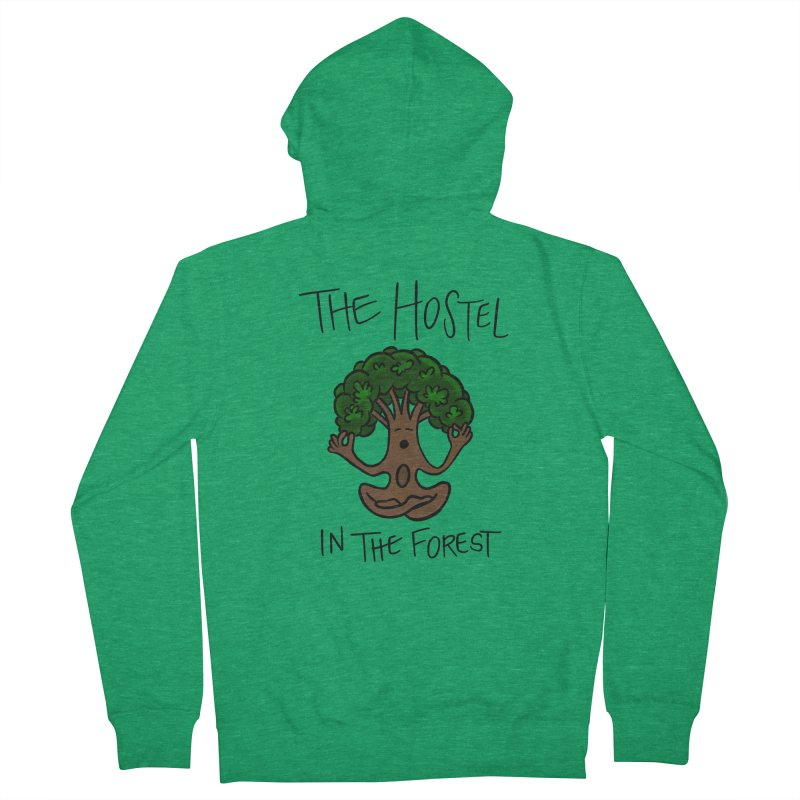 Hostel Yoga Tree by LeAnn Sauls Women's Zip-Up Hoody by Hostel in the Forest