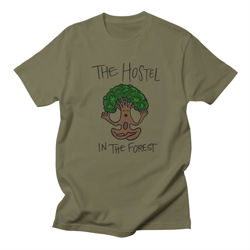 Hostel Yoga Tree by LeAnn Sauls Men's T-Shirt by Hostel in the Forest