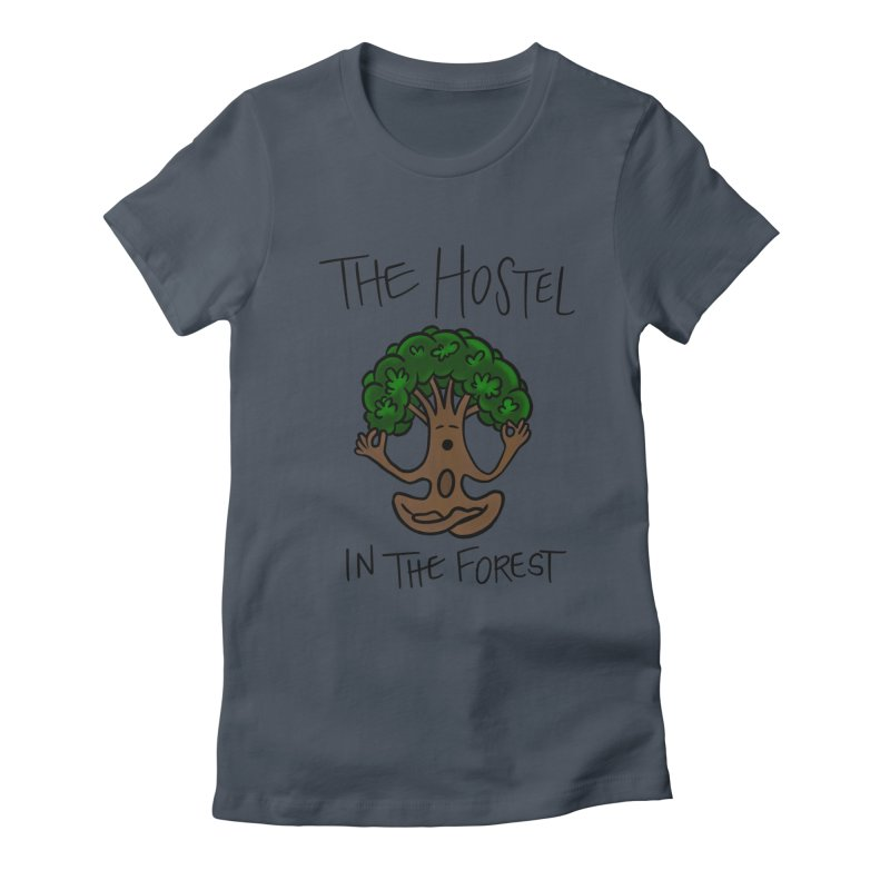 Hostel Yoga Tree by LeAnn Sauls Women's T-Shirt by Hostel in the Forest