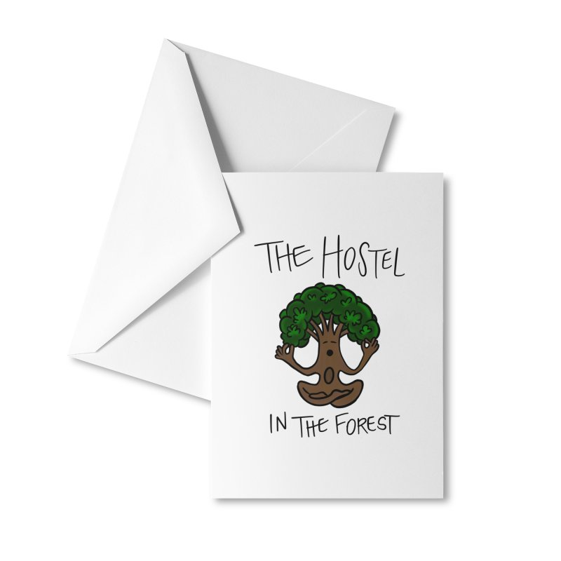 Hostel Yoga Tree by LeAnn Sauls Accessories Greeting Card by Hostel in the Forest