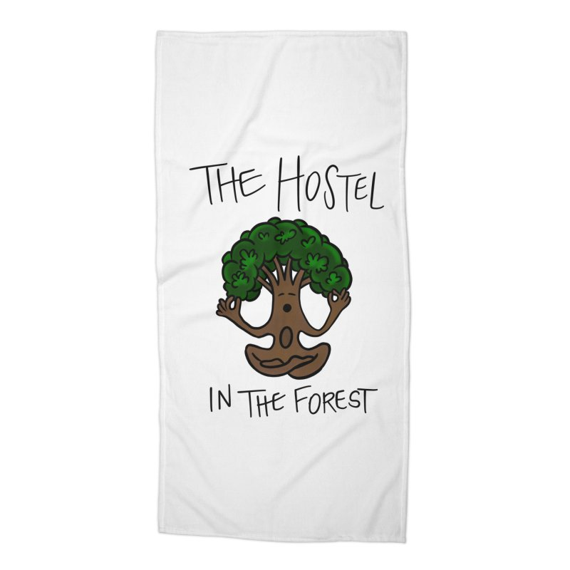 Hostel Yoga Tree by LeAnn Sauls Accessories Beach Towel by Hostel in the Forest