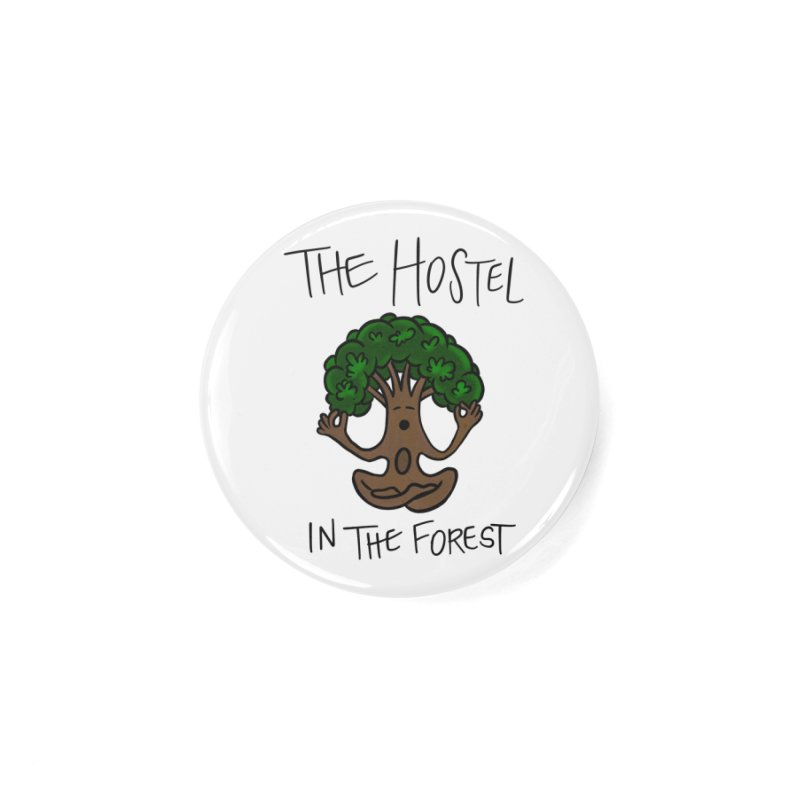 Hostel Yoga Tree by LeAnn Sauls Accessories Button by Hostel in the Forest