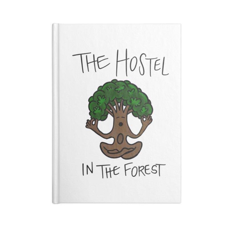 Hostel Yoga Tree by LeAnn Sauls Accessories Notebook by Hostel in the Forest
