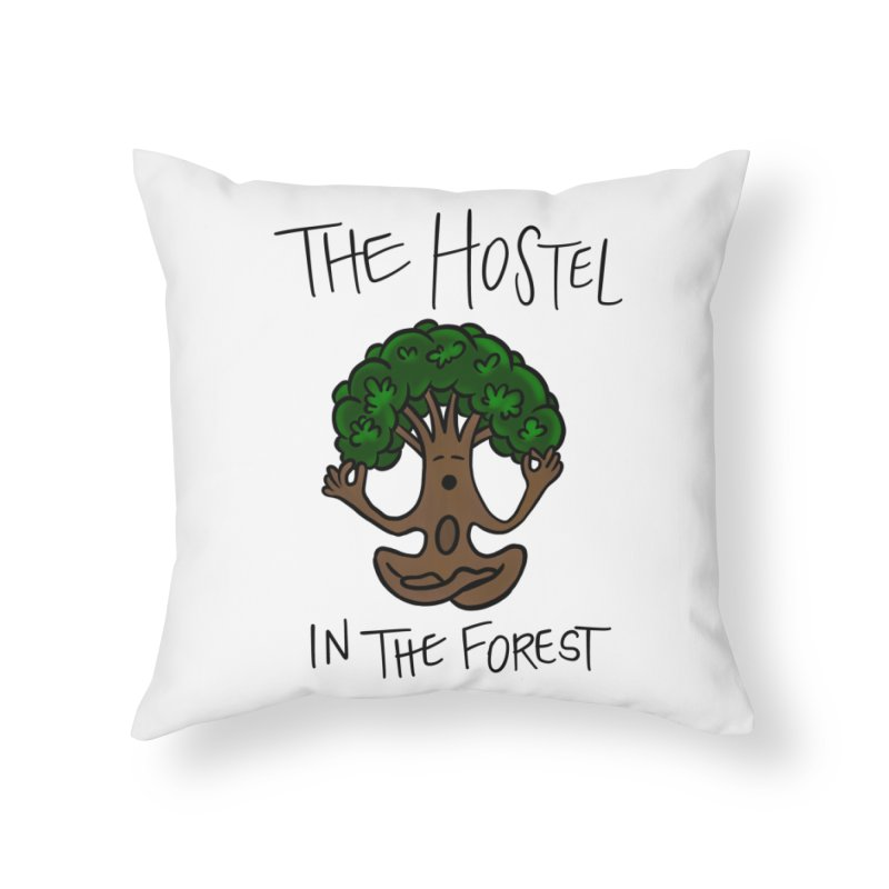 Hostel Yoga Tree by LeAnn Sauls Home Throw Pillow by Hostel in the Forest