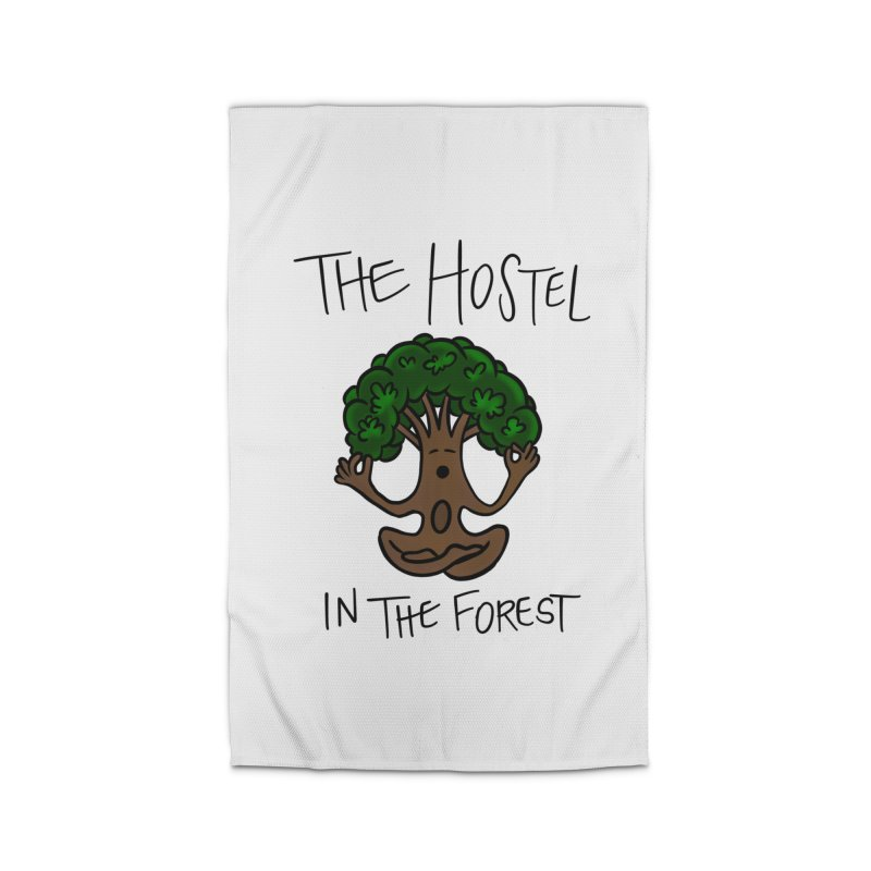 Hostel Yoga Tree by LeAnn Sauls Home Rug by Hostel in the Forest