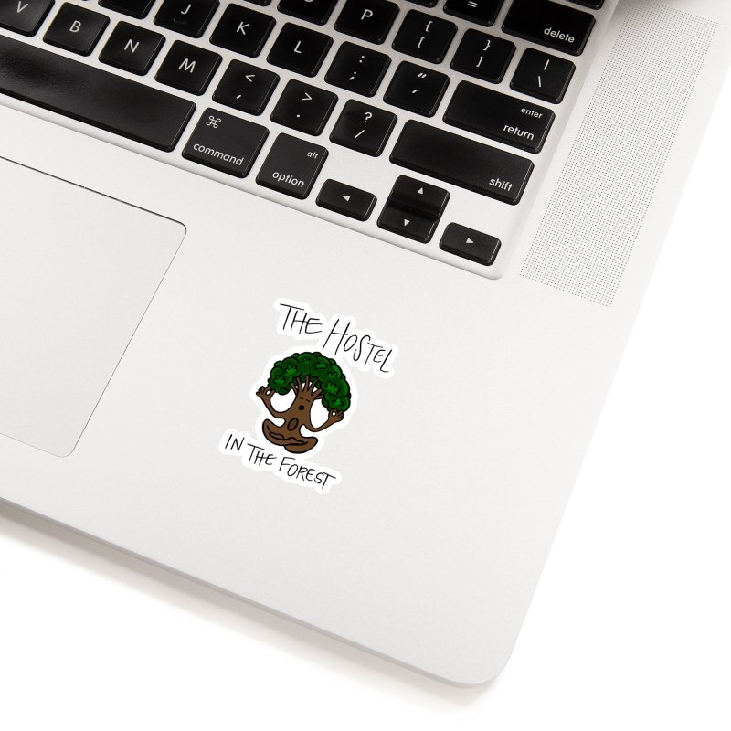 Hostel Yoga Tree by LeAnn Sauls Accessories Sticker by Hostel in the Forest