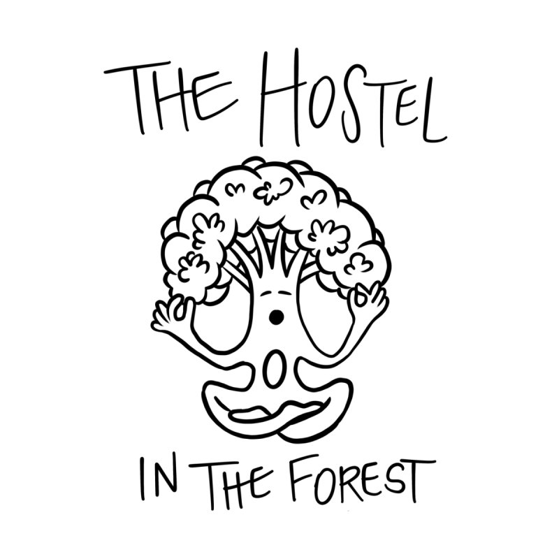 Hostel Yoga Tree by LeAnn Sauls (black & white) Men's T-Shirt by Hostel in the Forest
