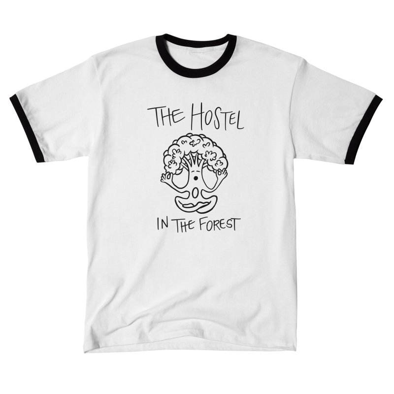 Hostel Yoga Tree by LeAnn Sauls (black & white) Women's T-Shirt by Hostel in the Forest