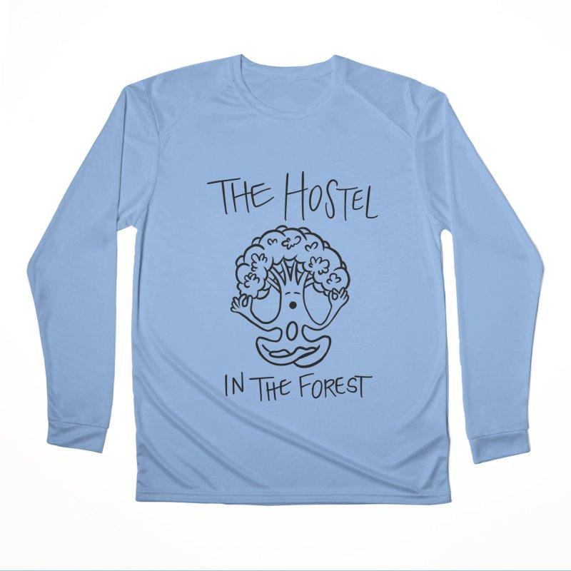 Hostel Yoga Tree by LeAnn Sauls (black & white) Men's Longsleeve T-Shirt by Hostel in the Forest