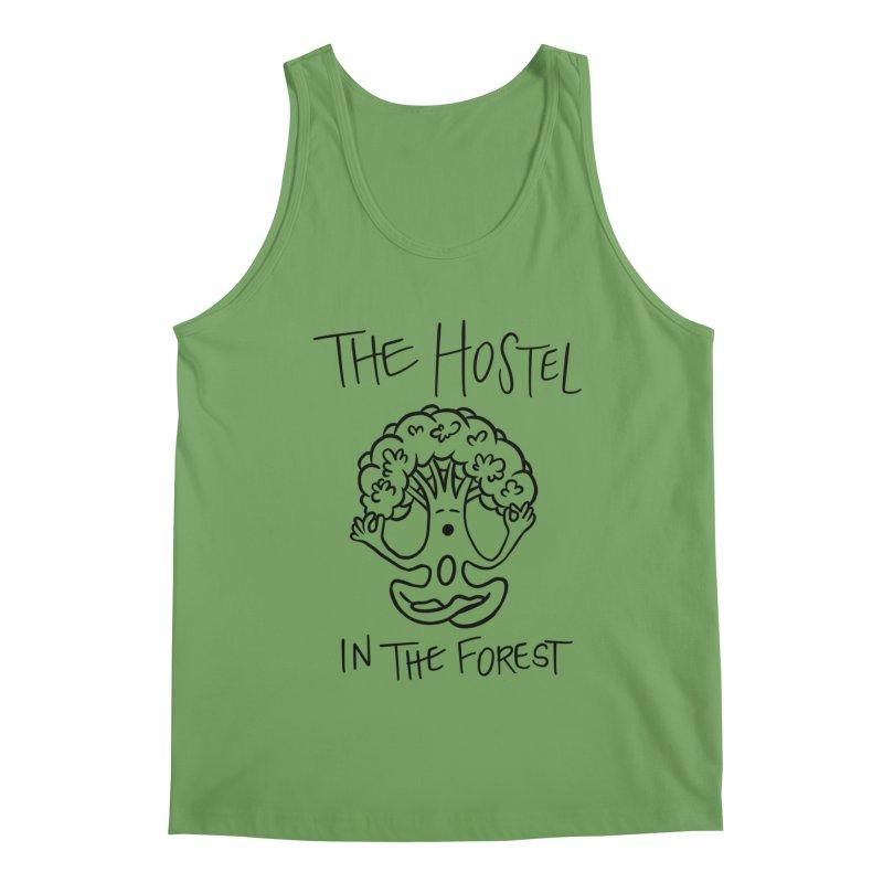 Hostel Yoga Tree by LeAnn Sauls (black & white) Men's Tank by Hostel in the Forest