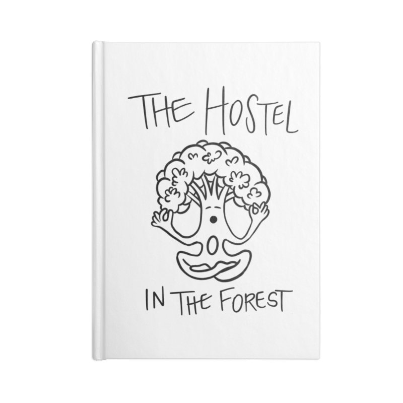 Hostel Yoga Tree by LeAnn Sauls (black & white) Accessories Notebook by Hostel in the Forest