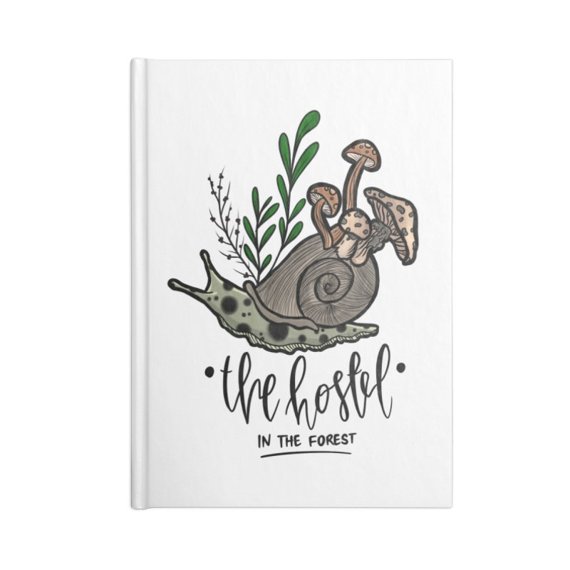 Shroom Snail by LeAnn Sauls Accessories Notebook by Hostel in the Forest