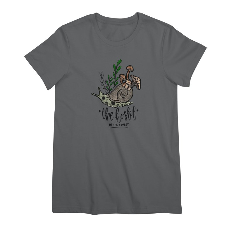 Shroom Snail by LeAnn Sauls Women's T-Shirt by Hostel in the Forest