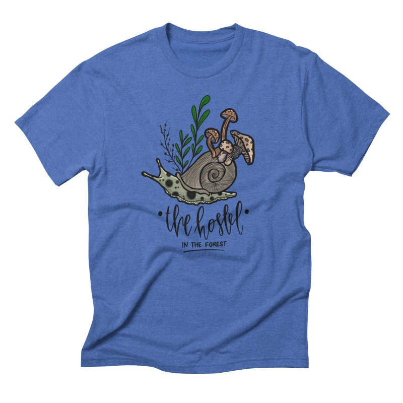 Shroom Snail by LeAnn Sauls Men's T-Shirt by Hostel in the Forest