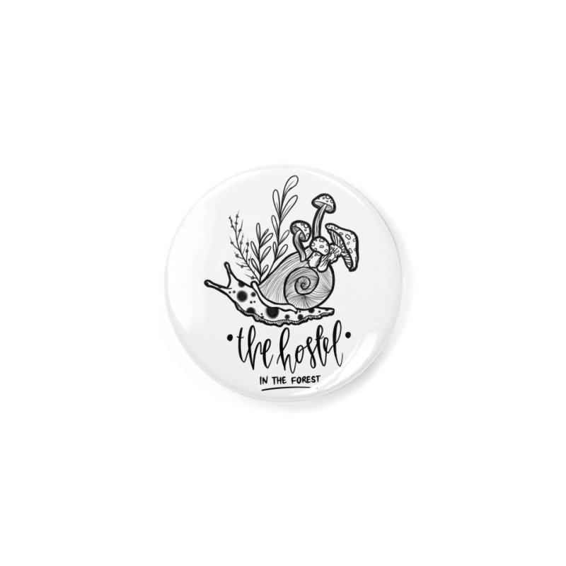 Shroom Snail by LeAnn Sauls (black & white) Accessories Button by Hostel in the Forest