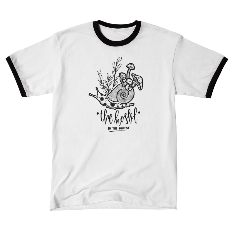 Shroom Snail by LeAnn Sauls (black & white) Women's T-Shirt by Hostel in the Forest