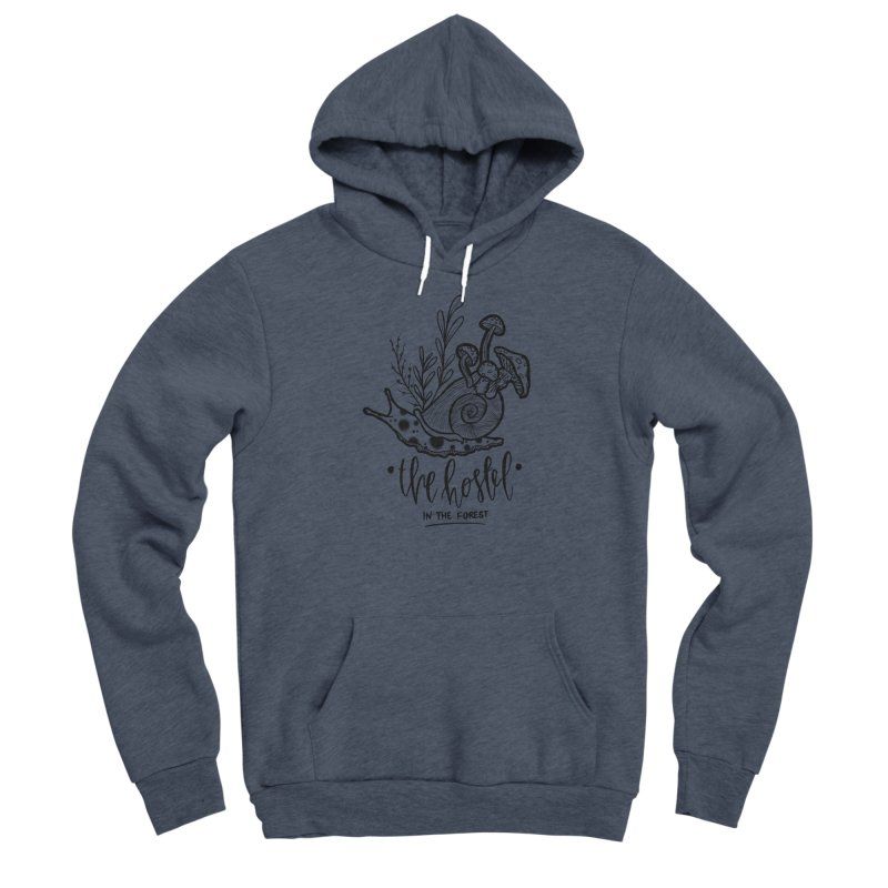Shroom Snail by LeAnn Sauls (black & white) Women's Pullover Hoody by Hostel in the Forest