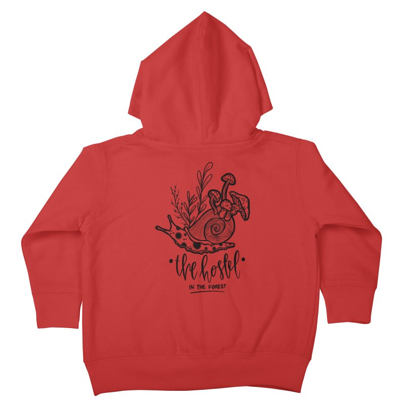 Shroom Snail by LeAnn Sauls (black & white) Kids Toddler Zip-Up Hoody by Hostel in the Forest