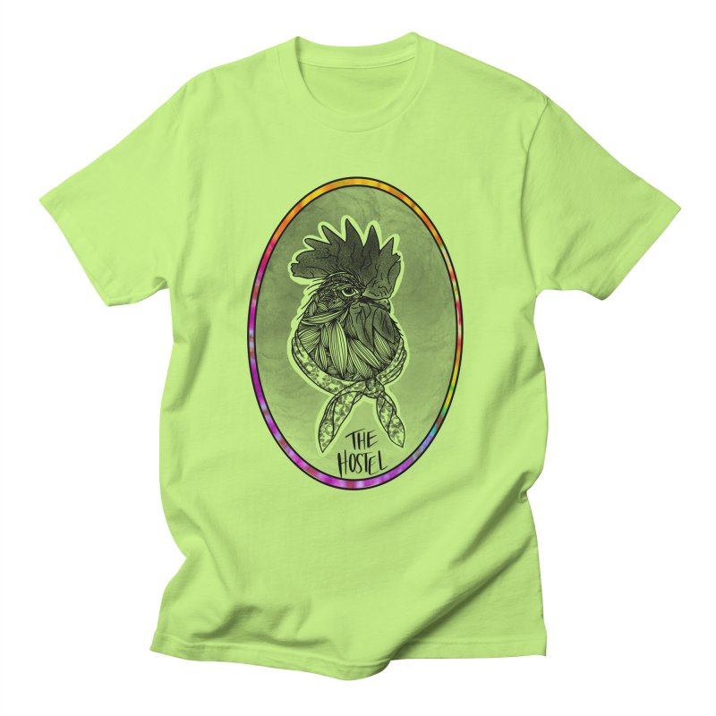Rooster by LeAnn Sauls (color border) Men's T-Shirt by Hostel in the Forest