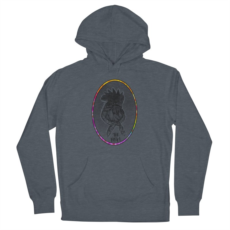 Rooster by LeAnn Sauls (color border) Men's Pullover Hoody by Hostel in the Forest