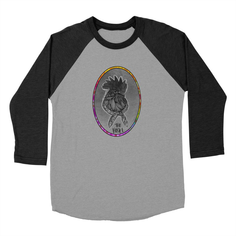 Rooster by LeAnn Sauls (color border) Women's Longsleeve T-Shirt by Hostel in the Forest