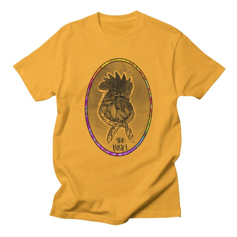 Rooster by LeAnn Sauls (vignette color) Men's T-Shirt by Hostel in the Forest