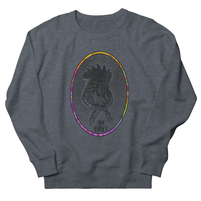 Rooster by LeAnn Sauls (color border) Men's Sweatshirt by Hostel in the Forest