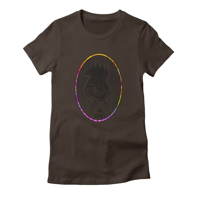 Rooster by LeAnn Sauls (color border) Women's T-Shirt by Hostel in the Forest