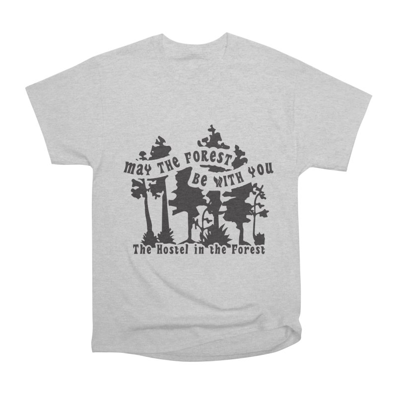 May the Forest by Erica Kelly, black on a clear background Men's T-Shirt by Hostel in the Forest