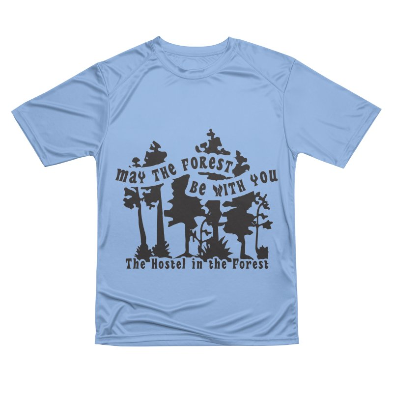 May the Forest by Erica Kelly, black on a clear background Women's T-Shirt by Hostel in the Forest