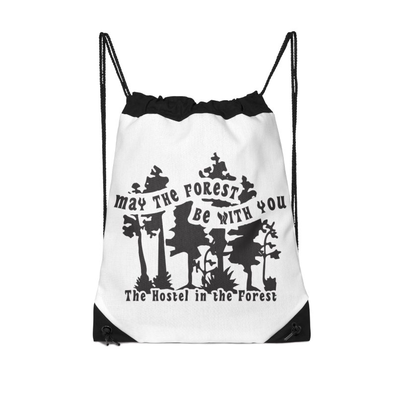 May the Forest by Erica Kelly, black on a clear background Accessories Bag by Hostel in the Forest