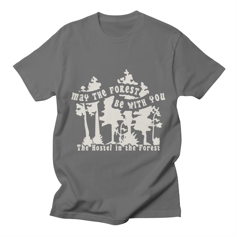 May the Forest by Erica Kelly, white on a clear background Men's T-Shirt by Hostel in the Forest
