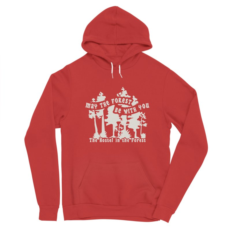 May the Forest by Erica Kelly, white on a clear background Women's Pullover Hoody by Hostel in the Forest