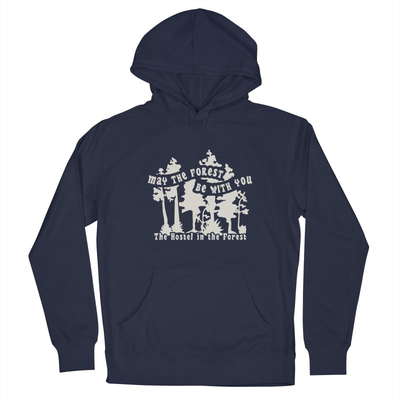 May the Forest by Erica Kelly, white on a clear background Men's Pullover Hoody by Hostel in the Forest