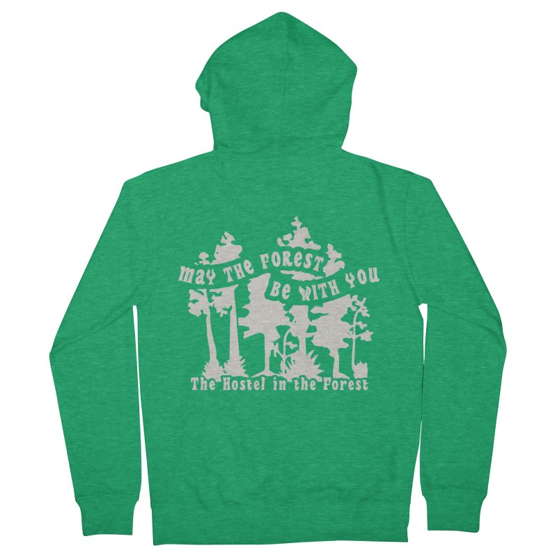May the Forest by Erica Kelly, white on a clear background Women's Zip-Up Hoody by Hostel in the Forest