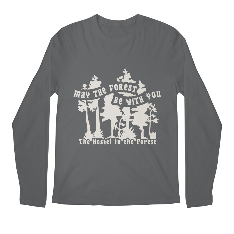 May the Forest by Erica Kelly, white on a clear background Men's Longsleeve T-Shirt by Hostel in the Forest