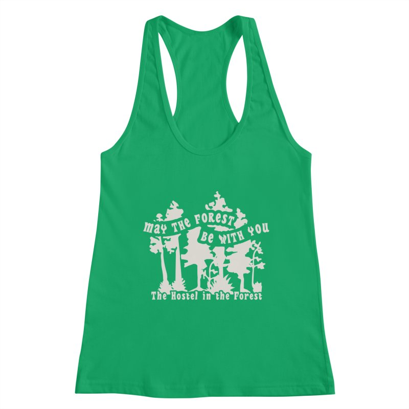 May the Forest by Erica Kelly, white on a clear background Women's Tank by Hostel in the Forest