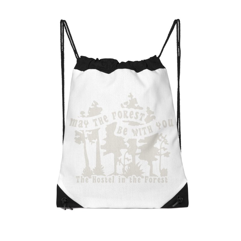 May the Forest by Erica Kelly, white on a clear background Accessories Bag by Hostel in the Forest