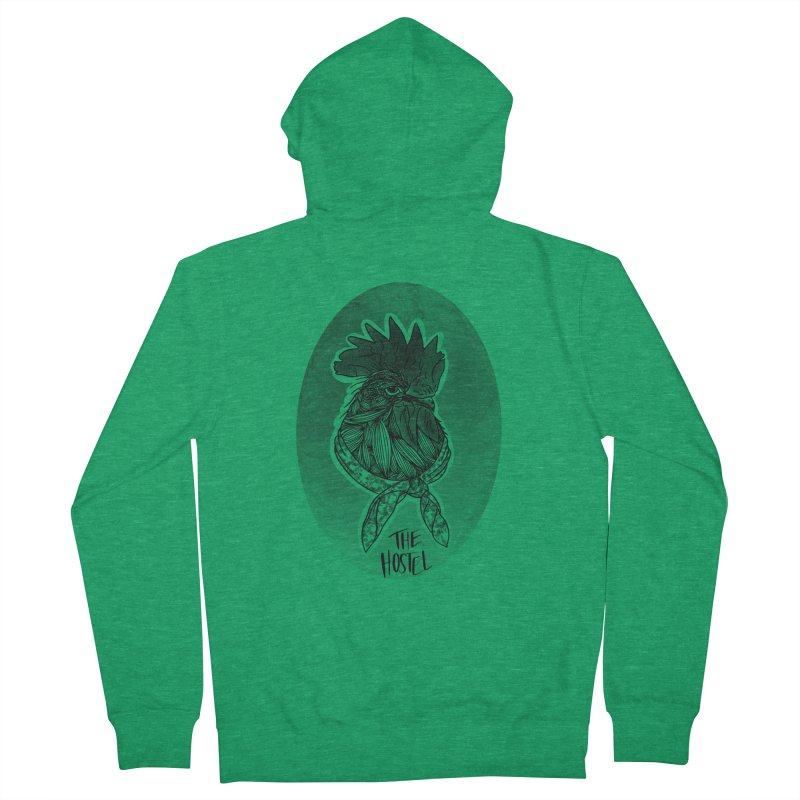 Rooster by LeAnn Sauls (vignette) Men's Zip-Up Hoody by Hostel in the Forest