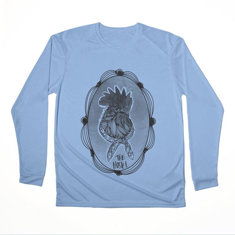 Rooster by LeAnn Sauls (fancy border) Women's Longsleeve T-Shirt by Hostel in the Forest