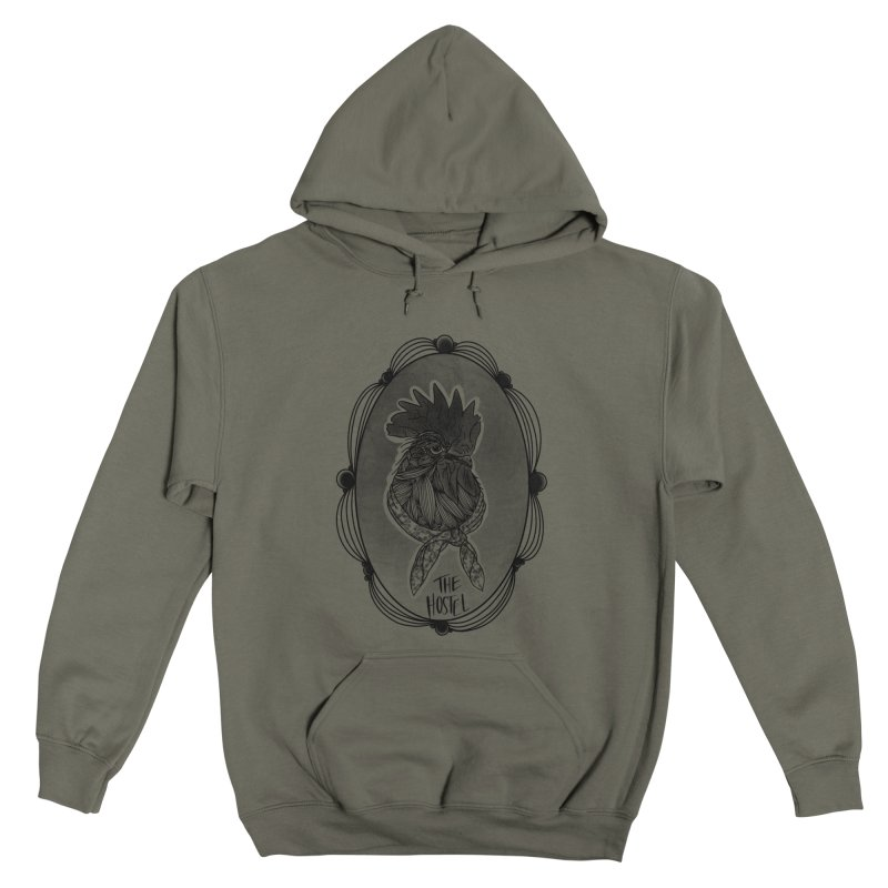 Rooster by LeAnn Sauls (fancy border) Men's Pullover Hoody by Hostel in the Forest