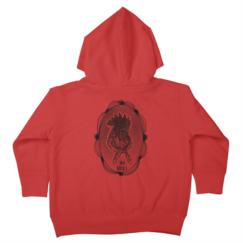 Rooster by LeAnn Sauls (fancy border) Kids Toddler Zip-Up Hoody by Hostel in the Forest