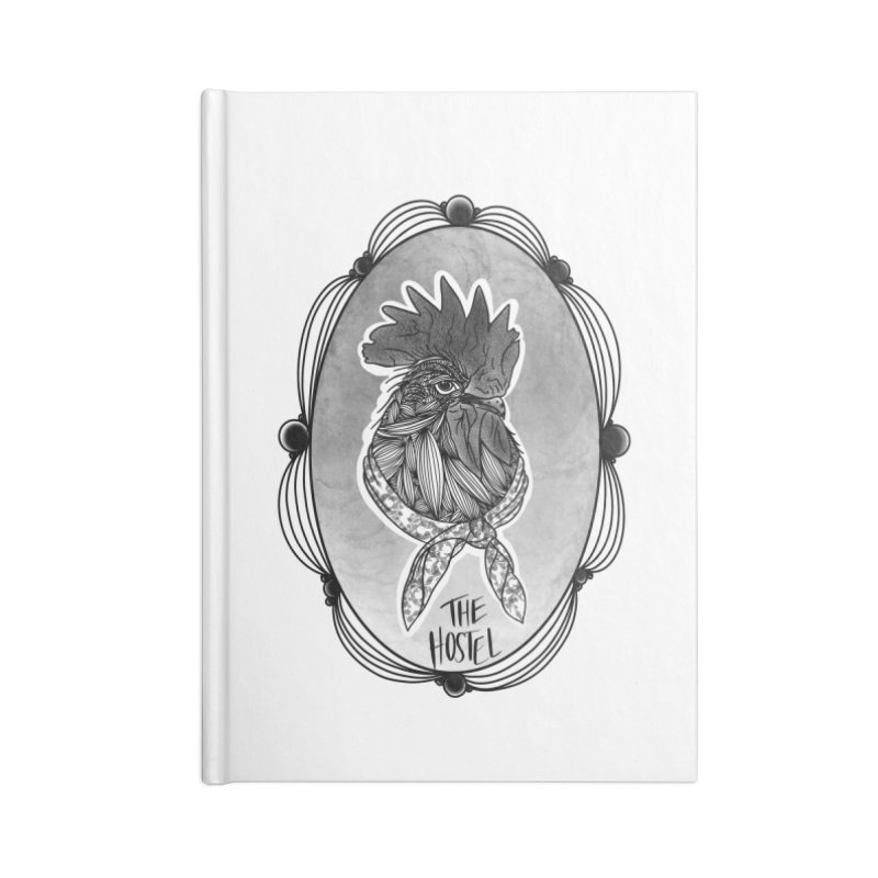 Rooster by LeAnn Sauls (fancy border) Accessories Notebook by Hostel in the Forest