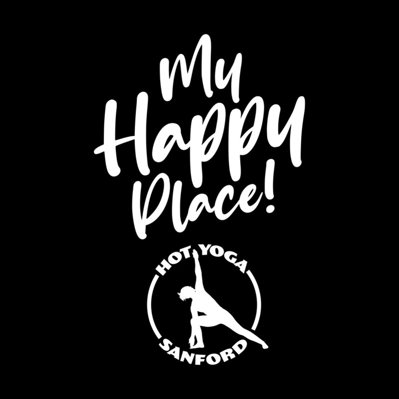 My Happy Place (white) Men's Pullover Hoody by Hot Yoga Sanford's Storefront