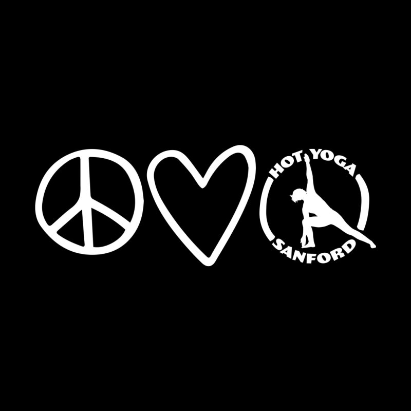 Peace, Love, Hot Yoga Sanford Men's Pullover Hoody by Hot Yoga Sanford's Storefront