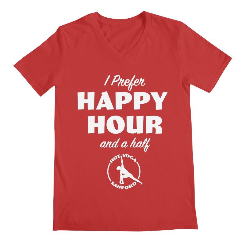 I prefer Happy Hour and a half Men's V-Neck by Hot Yoga Sanford's Storefront