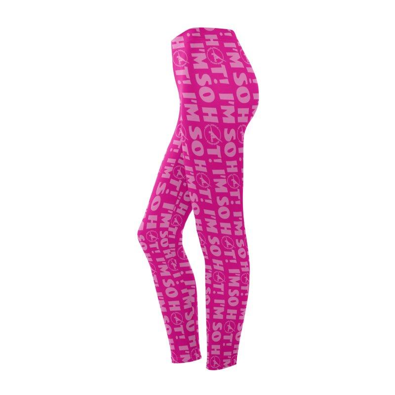 I'm So Hot Leggings (Pink) Women's Bottoms by Hot Yoga Sanford's Storefront